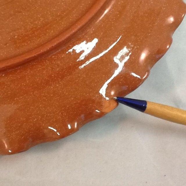 Handmade Pottery Tray. Signed Pottery Tray. Vintage Pottery Plate. Chicken-Imagery Pottery Tray - Image 5 of 5