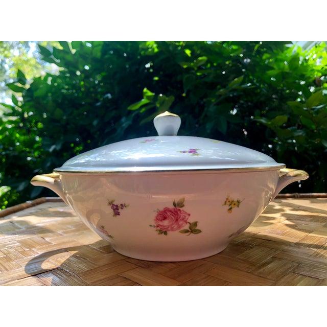 "Haviland ""Rose Chintz"" Gilt Floral Porcelain Vegetable Tureen For Sale In Charleston - Image 6 of 12"
