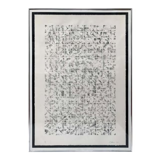 Graphic Black and White Lithograph Signed C. Isham For Sale