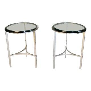 Maison Jansen Style Steel Side Tables For Sale