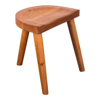 Jean Touret Oak Stool for Marolles For Sale