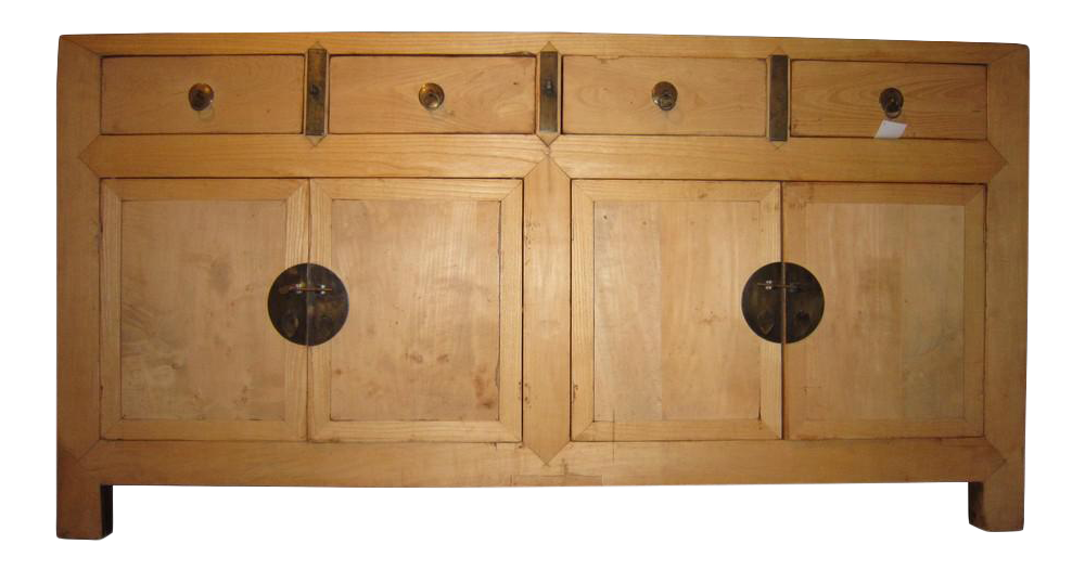 Exceptionnel Antique Chinese Elm Wood Sideboard