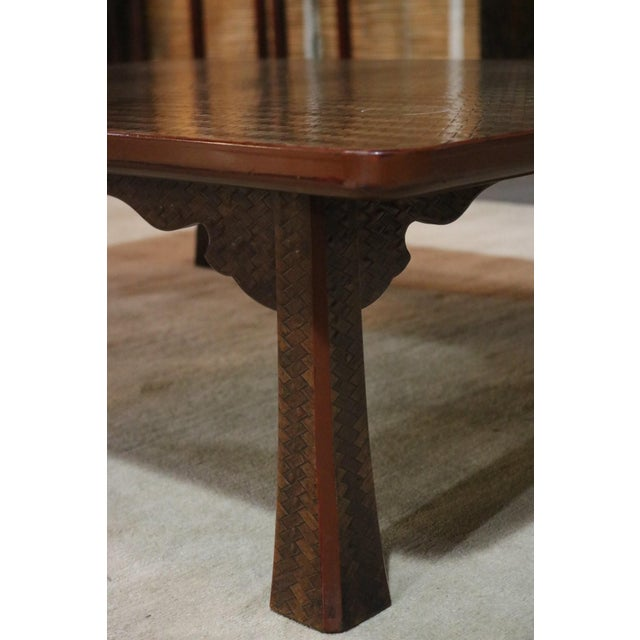 Late 19th C. Japanese Ajiro Table For Sale - Image 4 of 6