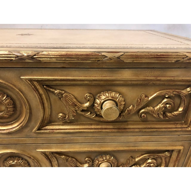 Maitland Smith Leather Top Chest For Sale - Image 4 of 8