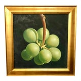 Image of Large Still Life Painting of Grapes For Sale