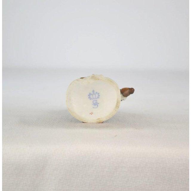Antique Porcelain Monkey Musician, from Germany, Brown Coat For Sale In Denver - Image 6 of 8