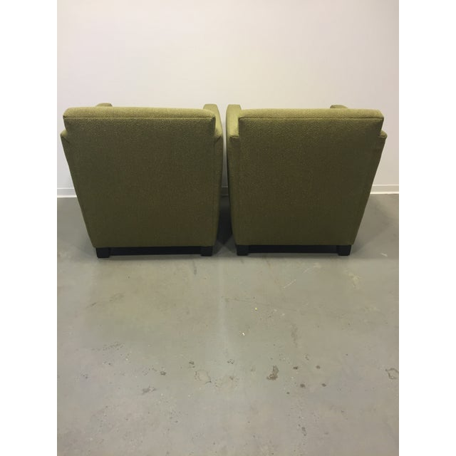 Green Club Chairs - Pair - Image 5 of 7