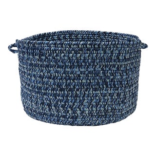 "Catalina Blue Wave 18""x12"" Storage Basket"