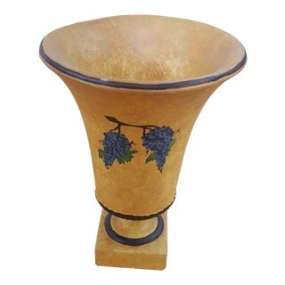 Sarreid Yellow and Grapes Vase For Sale