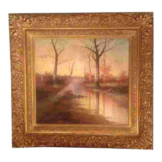 American 20th Cent. Oil by William J. Engelhardt(born 1892) For Sale