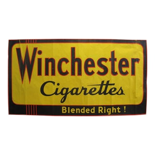 1940s Original Art Deco Horizontal Poster - Winchester Cigarettes - Blended Right! For Sale