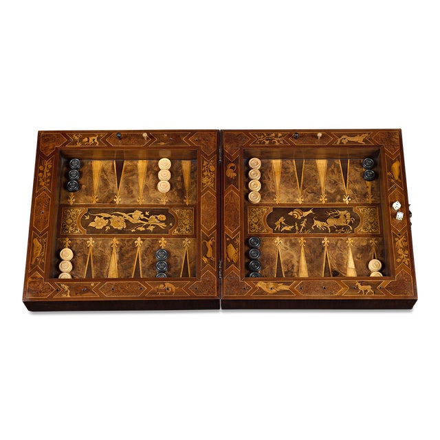 Arts & Crafts 17th-Century German Games Box For Sale - Image 3 of 8