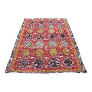 Vintage Weaving Turkish Kilim Rug For Sale