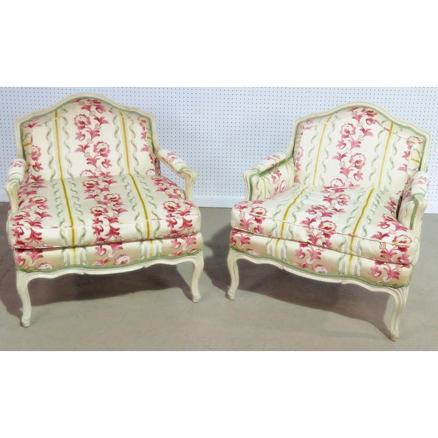 Companion Pair of Louis XV Style Chairs For Sale - Image 9 of 9