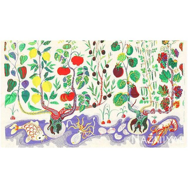 Vintage Cotton Italian Dinner Textile by Josef Frank, Scandinavia, circa Mid-Twentieth Century – Here is a unique and...