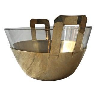 Stanley Roberts 24-Karat Plated Salad Bowl For Sale