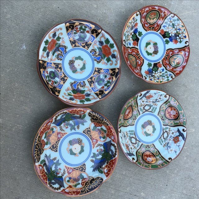 Vintage Japanese Porcelain Side Dishes - Set of 4 - Image 4 of 11