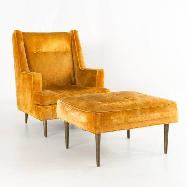 Mid-Century Modern Mid Century Edward Wormley for Dunbar Chair and Ottoman For Sale - Image 3 of 13