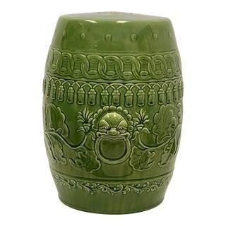 Vintage Green Asian Ceramic Garden Seat For Sale
