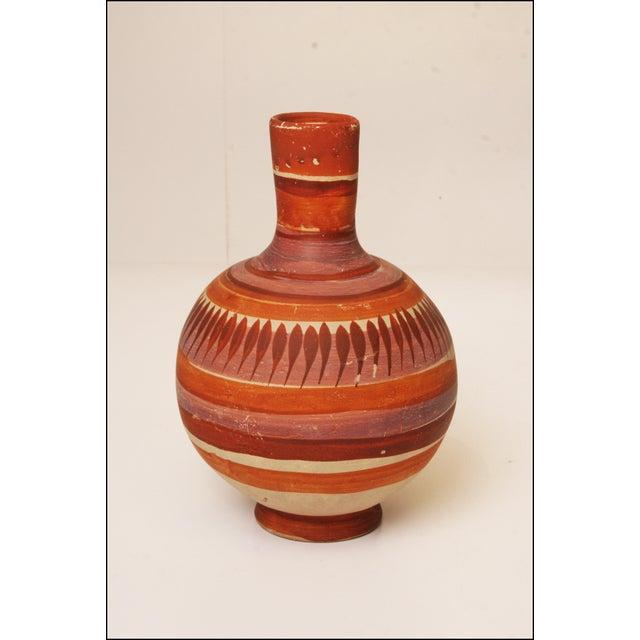 Vintage Native American Brown Art Pottery Vase - Image 3 of 11