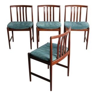 Set of 4 Mid Century Danish Modern Contoured Rosewood Dining Chairs For Sale