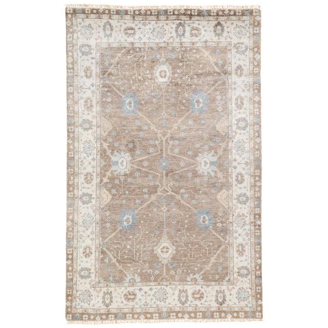 Jaipur Living Princeton Hand-Knotted Floral Tan / Light Blue Area Rug - 5′ × 8′ For Sale In Atlanta - Image 6 of 6