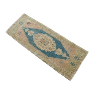 Hand Knotted Door Mat, Entryway Rug, Bath Mat, Kitchen Decor, Small Rug, Turkish Rug - 1′9″ × 4′6″ For Sale