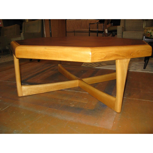 Lane Hexagonal Coffee Table For Sale In Charleston - Image 6 of 10