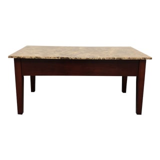 Faux Marble Lift Top Coffee Table For Sale