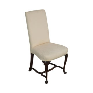 Hickory Chair Mahogany Queen Anne Small Upholstered Side Chair For Sale