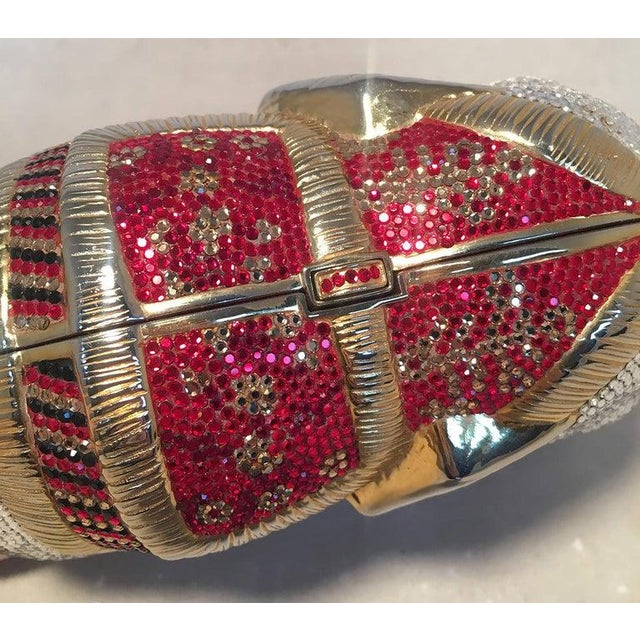 Judith Leiber Rare Judith Leiber Swarovski Crystal Elephant Minaudiere Evening Bag Clutch For Sale - Image 4 of 10