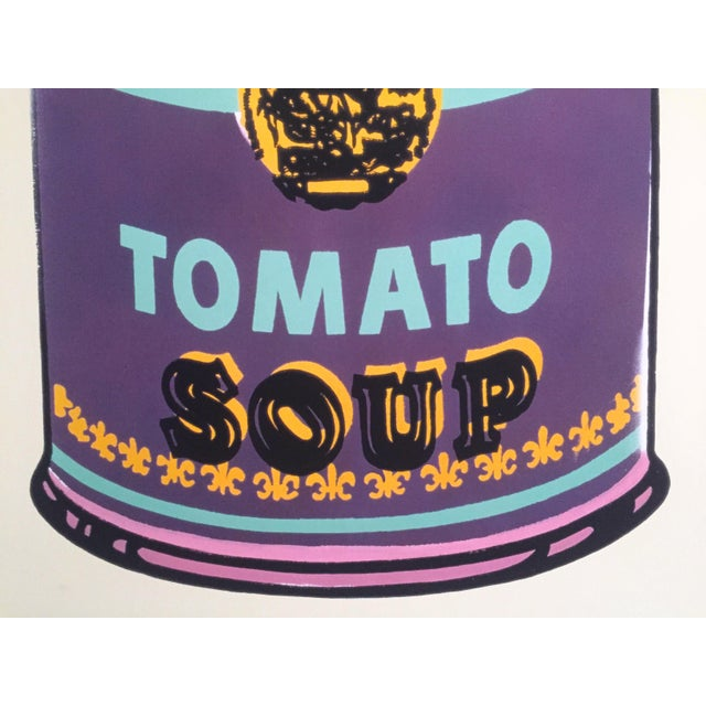 """Paper Andy Warhol Foundation Lithograph Print Pop Art Poster """" Campbell's Soup Can """" 1965 For Sale - Image 7 of 11"""