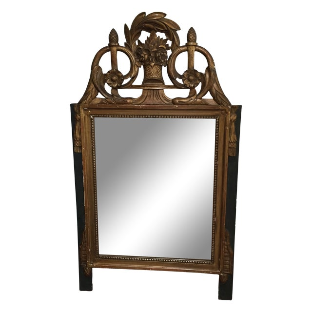 Vintage French Neoclassical Gold Mirror | Chairish