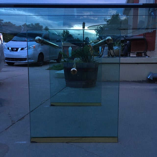 Glass and Brass Mid-Century Modern Dining Table by Pace For Sale - Image 10 of 13