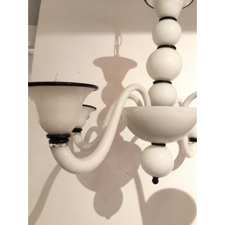Italian Modern Black and White Glass Chandelier Preview