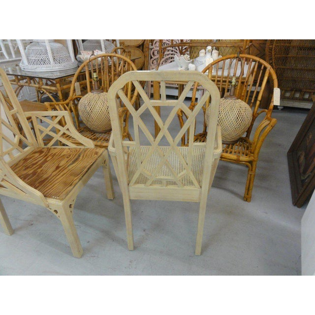 Palm Beach Regency Fretwork Chairs - Set of 6 - Image 3 of 11