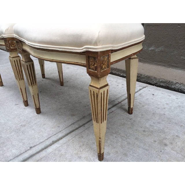 Gold Leaf Pair of 19th Century Italian Neoclassical Side Chairs For Sale - Image 7 of 9