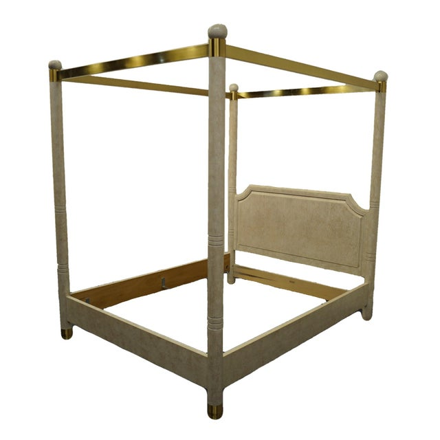 Henredon Furniture Charisma Collection contemporary modern queen size four poster canopy bed. We specialize in high end...