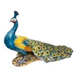 Image of Life-Size Italian Terracotta Peacock For Sale