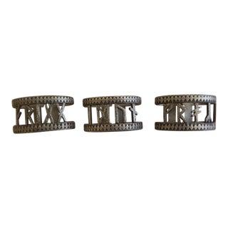 Danish Modern Scandinavian Pewter Napkin Rings ~ Set of Three by Eivind Hillestad