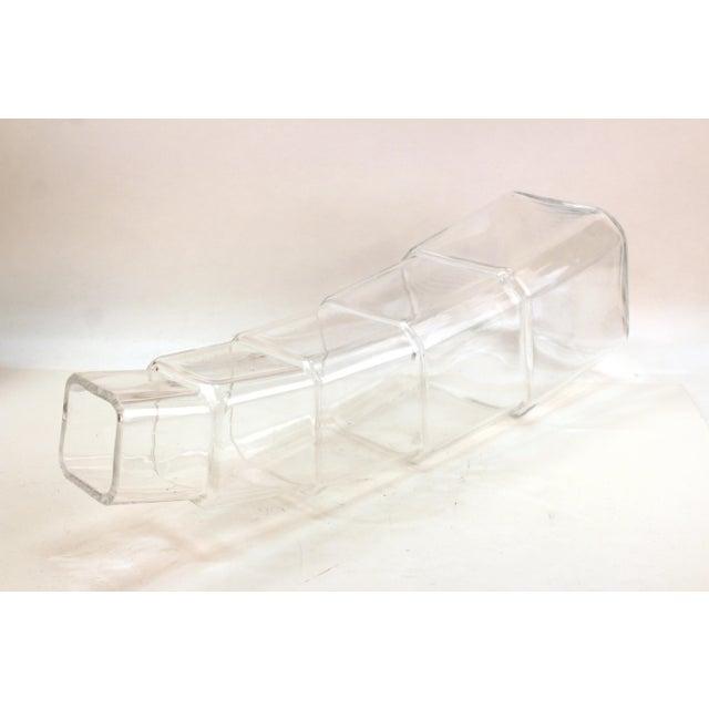Glass Denizli Modern Stacked Leaning Glass Vase For Sale - Image 7 of 10