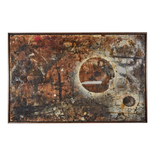 A Found Work Table Top, Appropriated and Framed by Richard Shapiro For Sale