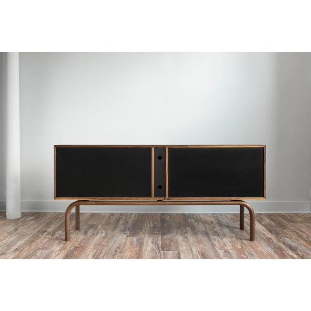 Metal Gatsby Credenza in Walnut For Sale - Image 7 of 7