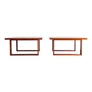 1960s Danish Modern France & Son Teak Side Tables - a Pair For Sale