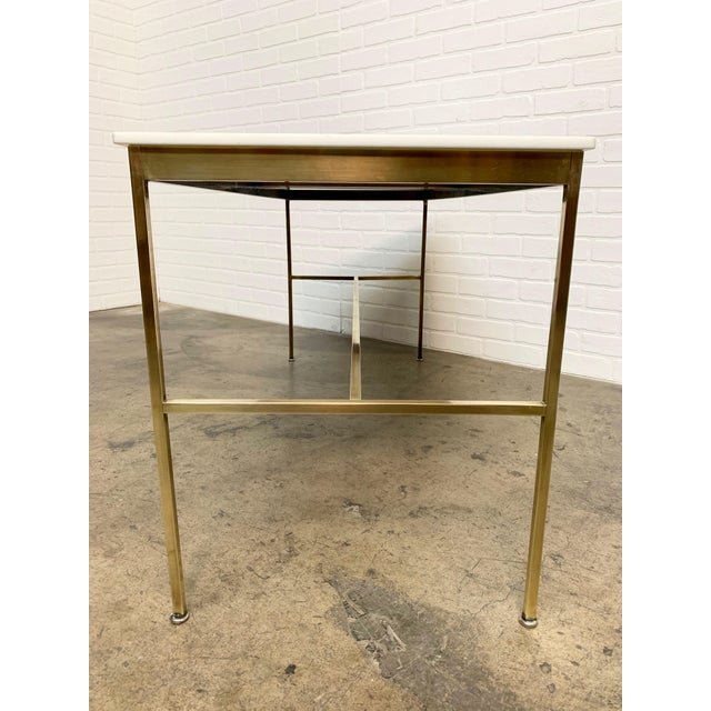 Metal Brass and Vitrolite Console Table by Paul McCobb For Sale - Image 7 of 13