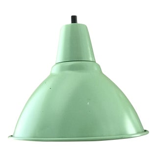 Original Mint Green Industrial Hanging Lamp
