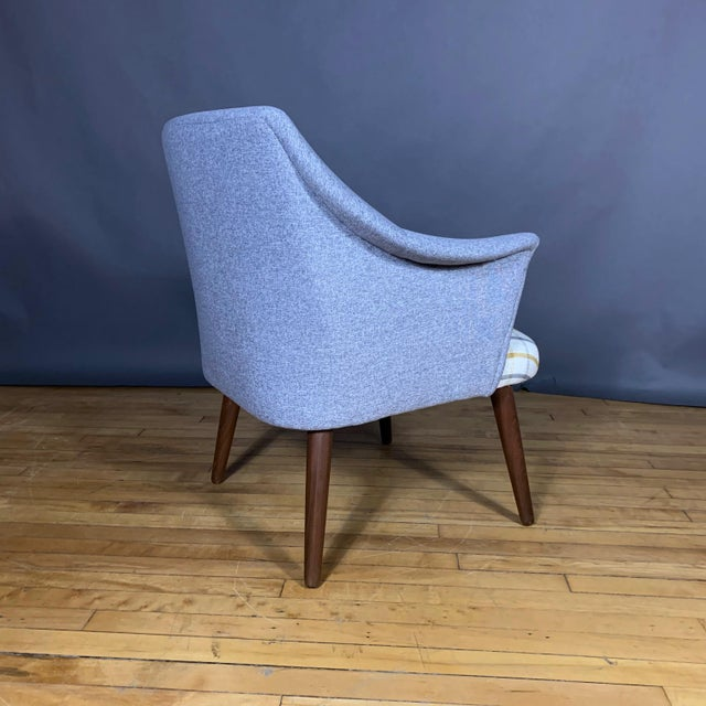 Danish 1960 Armchair, New Mood Nyc Upholstery For Sale In New York - Image 6 of 9