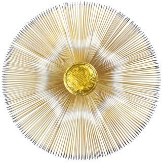 Sunburst Wall Sculpture by Casa Devall For Sale