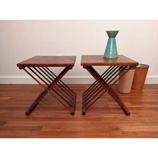 Ernest Sohn Staved Teak Folding Tables, a Pair Preview
