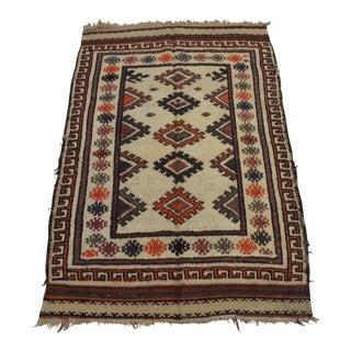 Small Afghan Taimani Baluchi Rug For Sale